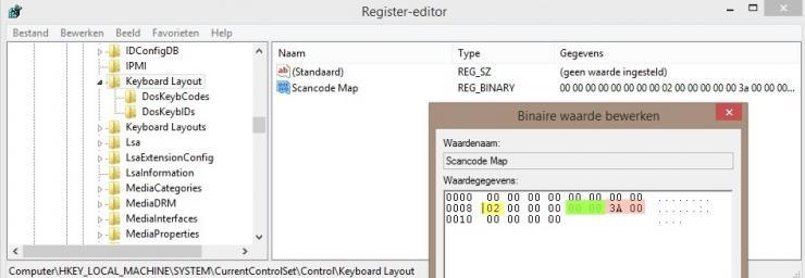 Caps-Lock uitschakelen door Key remapping
