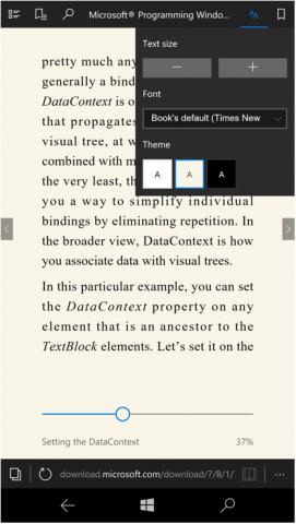 epub boeken lezen in Edge op mobiel of desktop