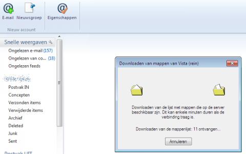 IMAP sync MSN.com voor WLM