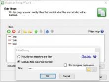 Filters instellen voor bronbestanden en mappen