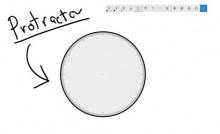 Kompas en gradenboogfunctie in Windows Ink